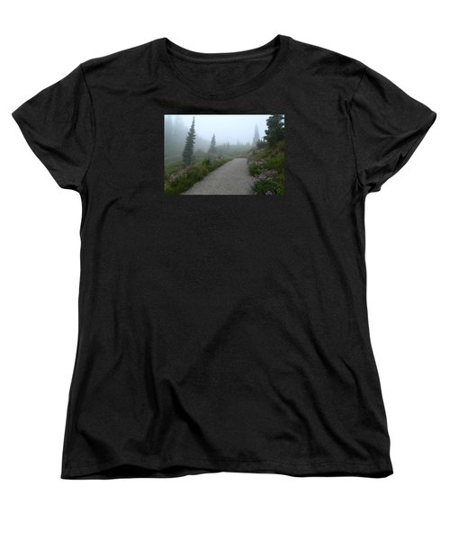 Women's T-Shirt (Standard Cut) featuring the photograph Foggy In Paradise 2 by Lynn Hopwood
