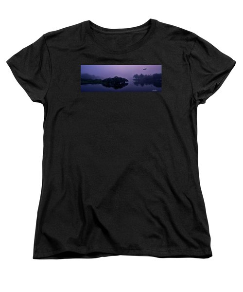 Women's T-Shirt (Standard Cut) featuring the photograph Foggy Morning by Don Durfee