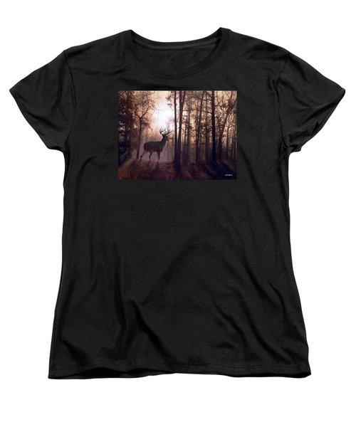 Foggy Morning In Missouri Women's T-Shirt (Standard Cut) by Bill Stephens