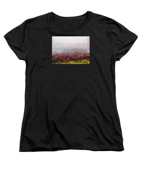 Women's T-Shirt (Standard Cut) featuring the photograph Foggy Morning by Spyder Webb