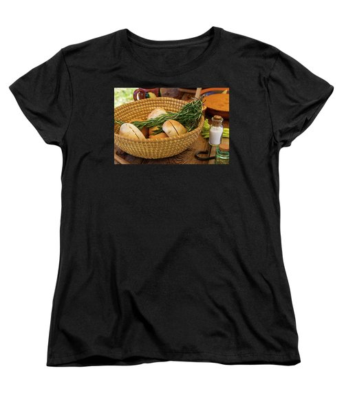 Women's T-Shirt (Standard Cut) featuring the photograph Food - Bread - Rolls And Rosemary by Mike Savad