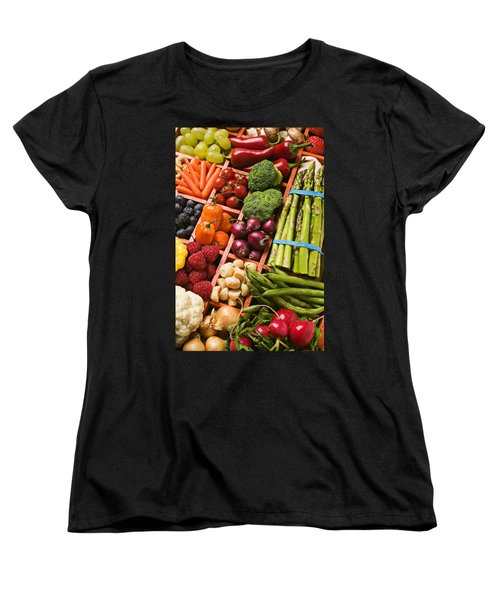 Food Compartments  Women's T-Shirt (Standard Cut) by Garry Gay