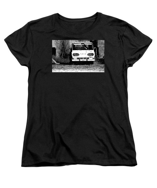 Ford Sketched In Black And White Women's T-Shirt (Standard Cut) by Renie Rutten