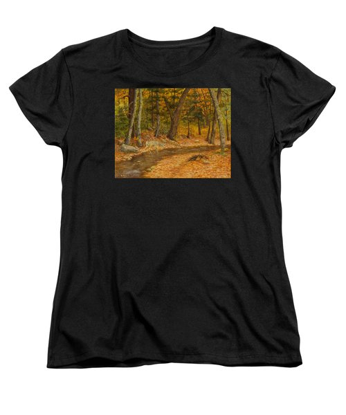 Women's T-Shirt (Standard Cut) featuring the painting Forest Life by Roena King