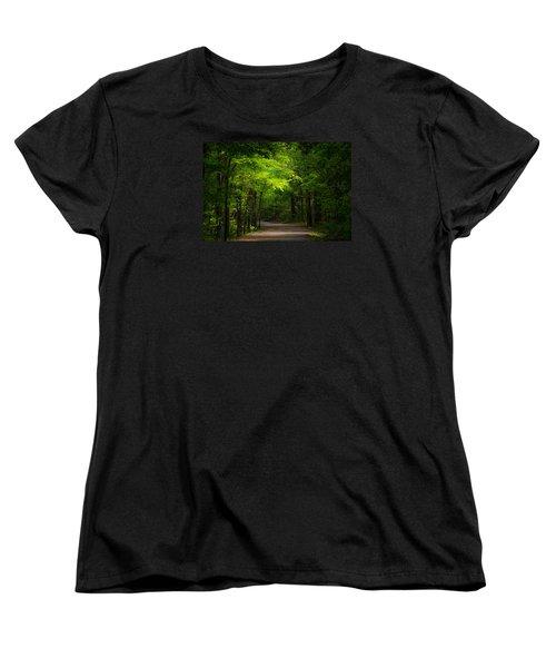 Forest Path Women's T-Shirt (Standard Cut) by Parker Cunningham