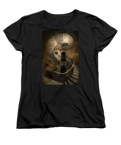 Forgotten Staircase Women's T-Shirt (Standard Cut) by Jaroslaw Blaminsky
