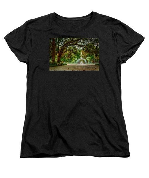 Forsyth Park Fountain Women's T-Shirt (Standard Cut)