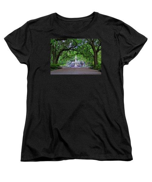 Forsyth Park Women's T-Shirt (Standard Cut) by Jean Haynes
