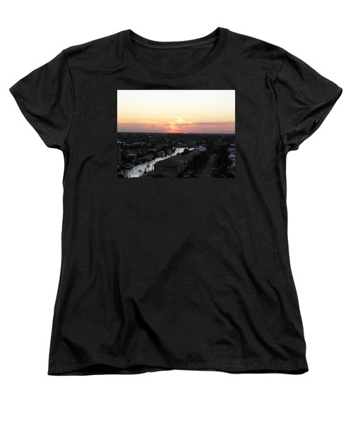 Fort Lauderdale Sunset Women's T-Shirt (Standard Cut) by Patricia Piffath