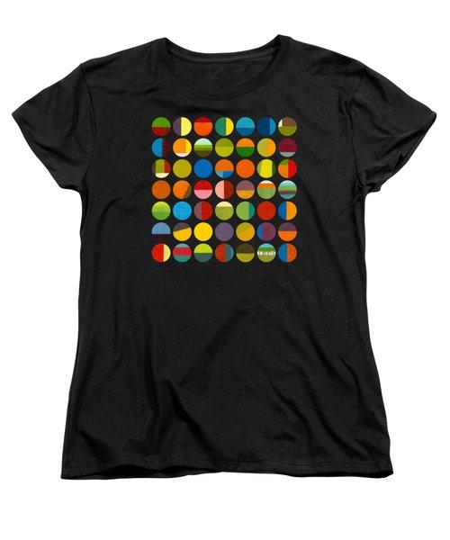 Forty Nine Circles Women's T-Shirt (Standard Cut) by Michelle Calkins