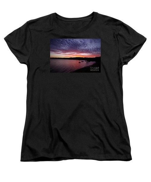 Four Elements Sunset Sequence 1 Coconuts Qld  Women's T-Shirt (Standard Cut) by Kerryn Madsen - Pietsch