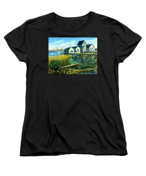 High Tide In Broad Channel, N.y. Women's T-Shirt (Standard Cut)