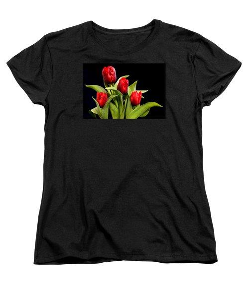 Four Tulips Women's T-Shirt (Standard Cut)