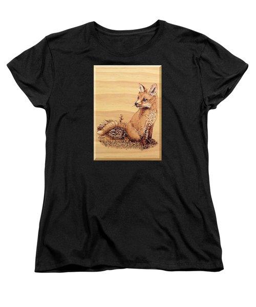 Fox Pup Women's T-Shirt (Standard Cut) by Ron Haist
