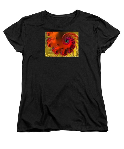 Fractal Art - Breath Of The Dragon Women's T-Shirt (Standard Cut) by HH Photography of Florida