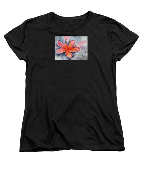 Frangipani Blue Women's T-Shirt (Standard Cut) by Elvira Ingram