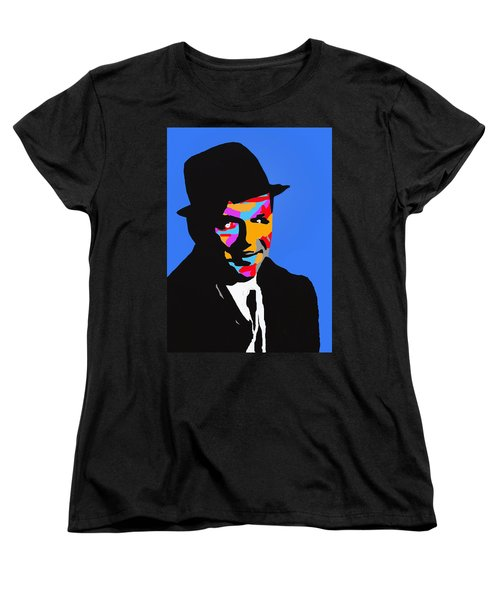 Women's T-Shirt (Standard Cut) featuring the drawing Frank Feeling Blue by Robert Margetts