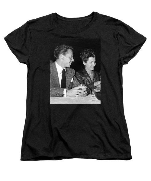 Frank Sinatra And Nancy Women's T-Shirt (Standard Cut) by Underwood Archives