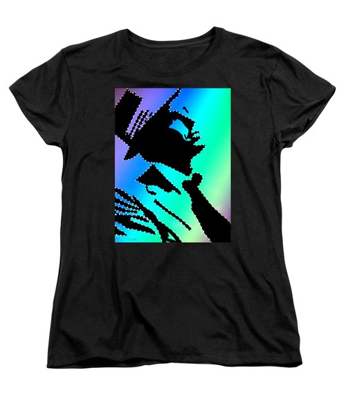 Frank Sinatra Over The Rainbow Women's T-Shirt (Standard Cut) by Robert Margetts