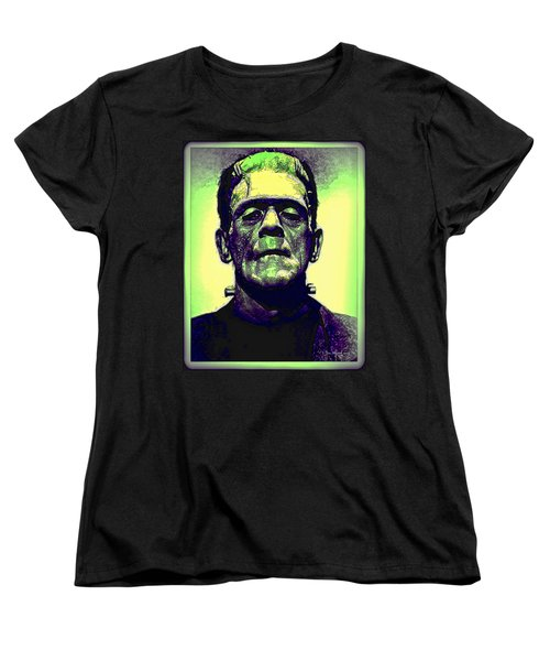 Frankenstein In Color Women's T-Shirt (Standard Cut) by Joan  Minchak