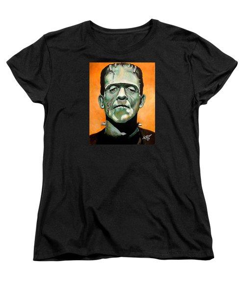 Frankenstein Women's T-Shirt (Standard Cut) by Tom Carlton
