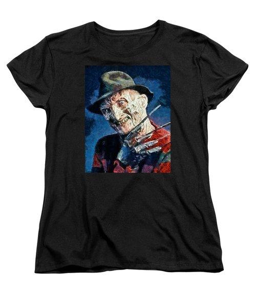 Freddy Kruegar Women's T-Shirt (Standard Cut) by Joe Misrasi