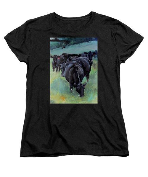 Free Range Cow Girls Women's T-Shirt (Standard Cut)