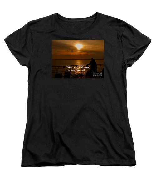 Women's T-Shirt (Standard Cut) featuring the photograph Free Will by Gary Wonning