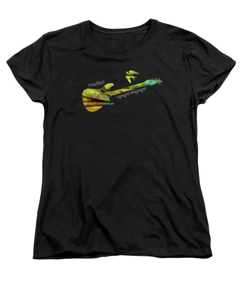 Freebird Lynyrd Skynyrd Ronnie Van Zant Women's T-Shirt (Standard Cut) by David Dehner