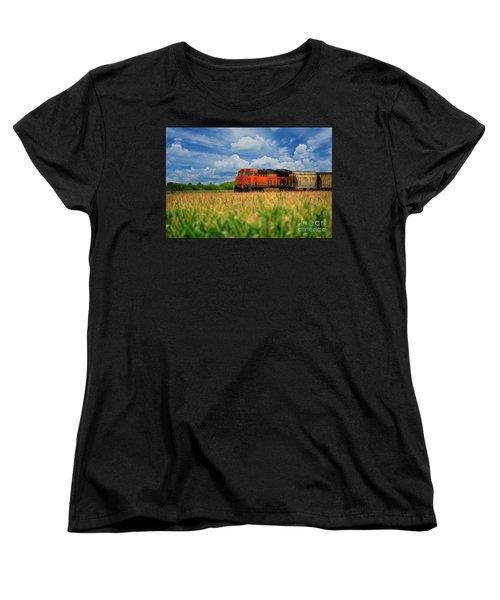 Freight Train Women's T-Shirt (Standard Cut) by Kelly Wade