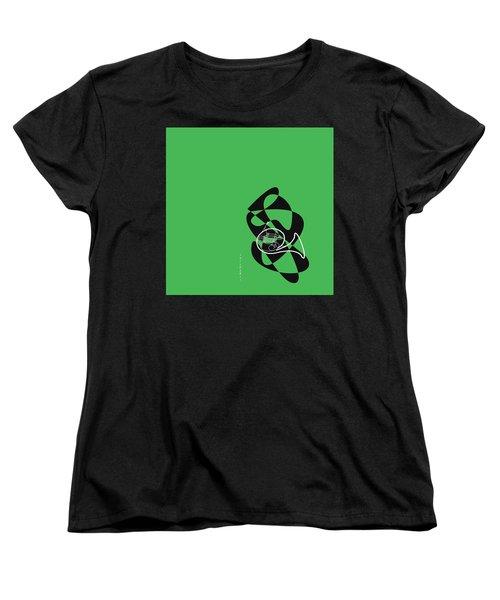 French Horn In Green Women's T-Shirt (Standard Cut) by David Bridburg