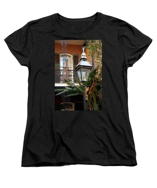 Women's T-Shirt (Standard Cut) featuring the photograph French Quarter Courtyard by KG Thienemann