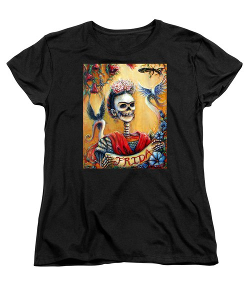 Women's T-Shirt (Standard Cut) featuring the painting Frida by Heather Calderon