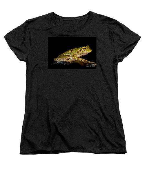 Women's T-Shirt (Standard Cut) featuring the photograph Cuban Tree Frog by Olga Hamilton