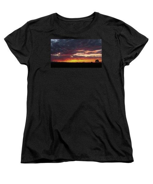 Front Range Sunset Women's T-Shirt (Standard Cut) by Monte Stevens