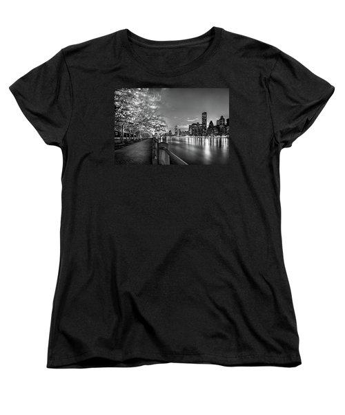 Front Row Roosevelt Island Women's T-Shirt (Standard Cut) by Az Jackson