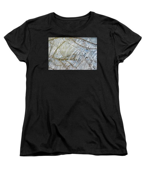 Women's T-Shirt (Standard Cut) featuring the photograph Frostbite.. by Nina Stavlund