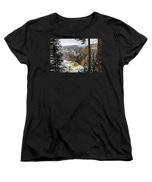 Women's T-Shirt (Standard Cut) featuring the photograph Frosted Canyon by Steve Stuller