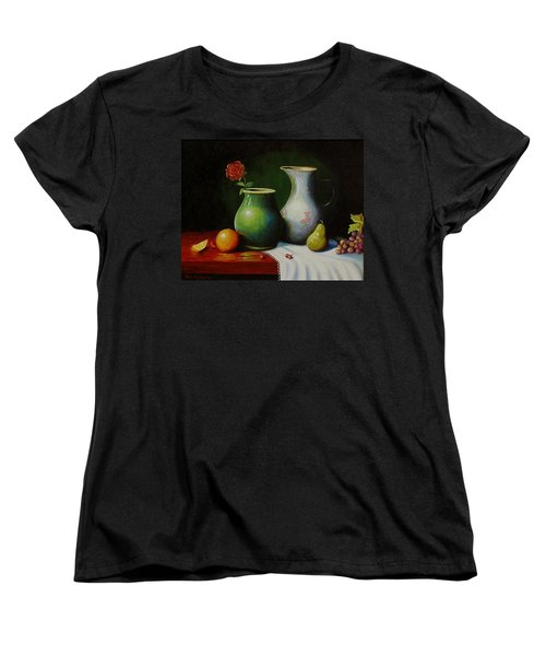 Fruit And Pots. Women's T-Shirt (Standard Cut) by Gene Gregory