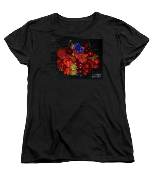 Women's T-Shirt (Standard Cut) featuring the photograph Fruits With Flower by Elvira Ladocki