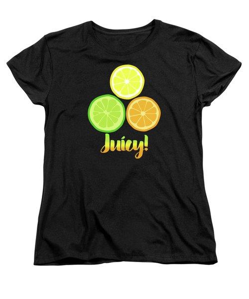 Fun Juicy Orange Lime Lemon Citrus Art Women's T-Shirt (Standard Cut)