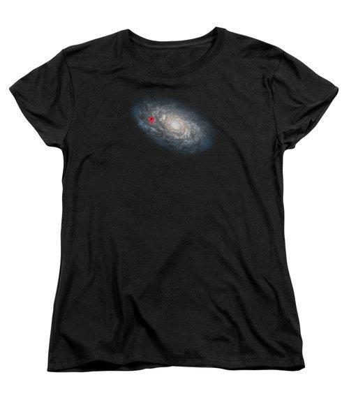 Funny Astronomy Universe  Nerd Geek Humor Women's T-Shirt (Standard Cut) by Philipp Rietz