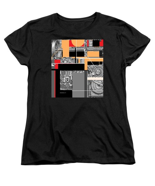 Women's T-Shirt (Standard Cut) featuring the mixed media Furnace 2 by Andrew Drozdowicz