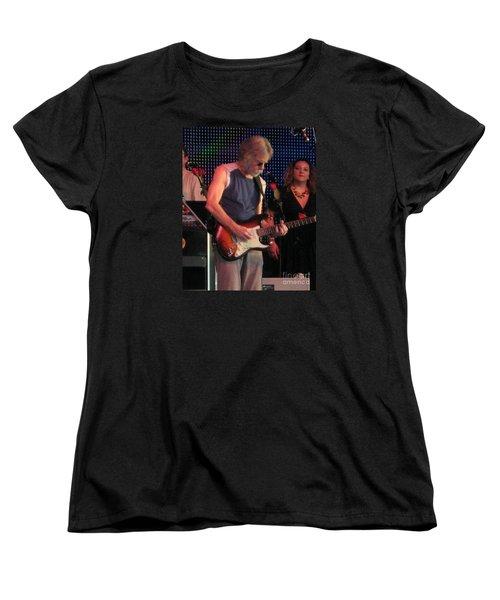 Women's T-Shirt (Standard Cut) featuring the photograph Furthur - Bob Weir -grateful Dead Celebrities by Susan Carella