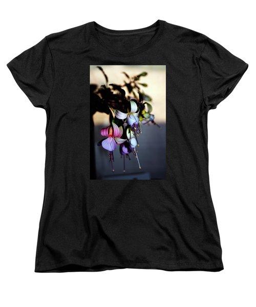 Women's T-Shirt (Standard Cut) featuring the photograph Fuschia Dancing Lady by Joseph Frank Baraba