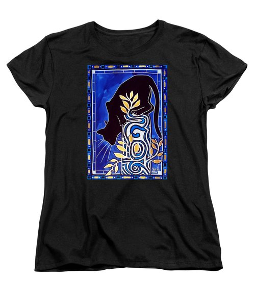 G Is For Gato - Cat Art With Letter G By Dora Hathazi Mendes Women's T-Shirt (Standard Cut)