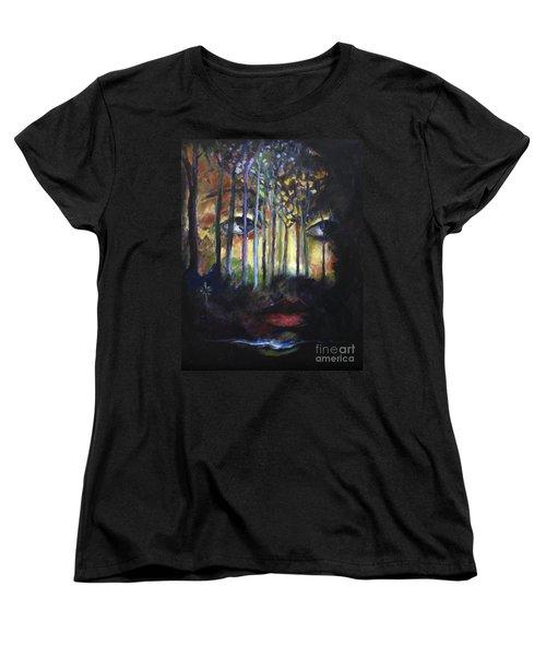 Gaia Women's T-Shirt (Standard Cut) by Jodie Marie Anne Richardson Traugott          aka jm-ART