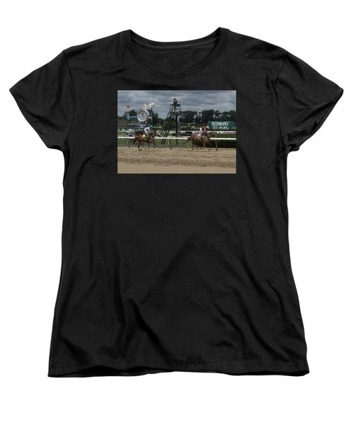 Women's T-Shirt (Standard Cut) featuring the digital art Galloping Out Painting by  Newwwman