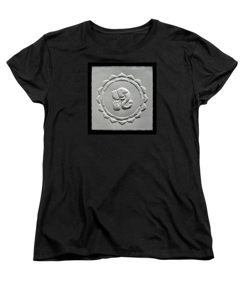 Women's T-Shirt (Standard Cut) featuring the relief Ganesha Blessings by Suhas Tavkar
