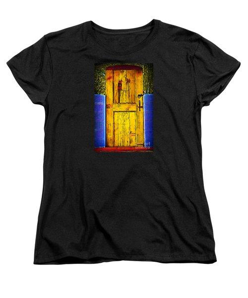 Women's T-Shirt (Standard Cut) featuring the digital art Garden Door by Kirt Tisdale